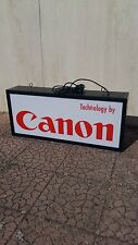 Insegna luminosa Canon Technology BIFACCIALE FUNZIONANTE OTTIMA Foto Fotografia