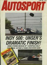 Autosport June 1st 1989 * Mexican GP & Indianapolis 500 *