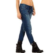 Stonewashed Damen-Jeans im Relaxed-Stil Hosengröße 38