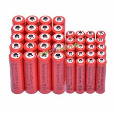 20 Aa 3000 Mah + 20 Aaa 1800mah 1.2 v Ni-mh Batería Recargable De 2a 3a de glóbulos rojos