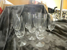 Rrogaska Signed Crystal Water Goblets/Set of 8/RARE/EXCELLENT CONDITION