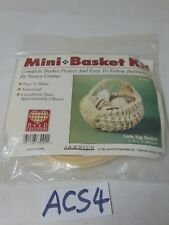 VINTAGE JADVICK REED CREATIONS MINI BASKET KIT BY NANCY GRUBER LITTLE EGG BASKET