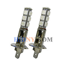 A Pair Of H1 13-SMD 5050 LED SMD Fog Lights DRL Driving Lamp Green Color 12V