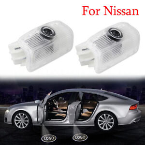 2X LED Door Welcome Light Logo Welcome Laser Projector Shadow Lamp For Nissan