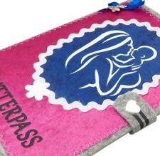 Mutterpasshülle MUKI Pass aus Filz mit Satin | Schutzhülle für Mamapass in pink