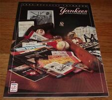 1989 New York Yankees Official Yearbook *JBJ