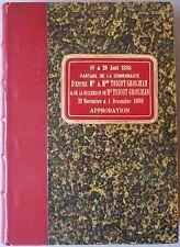 10 & 29 août 1888 – Partage de la communauté d'entre M. & Mme. Tricot Grosjean &