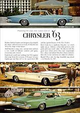 CHRYSLER 300 NEW YORKER NEWPORT MOPAR RETRO A3 POSTER PRINT FROM ADVERT 1963