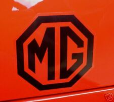 "MG Black & Clear Car STICKERS 4"" Pair Race Rally MGB A Midget Metro ZT ZA ZB TF"