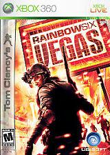 RAINBOW SIX VEGAS Xbox 360 Complete CIB w/ Box, Manual Stickers on Game