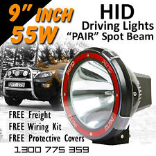 HID Driving Lights - 9 inch 55w SPOT Beam 12v 24v Offroad 4x4 **Aussie Seller**