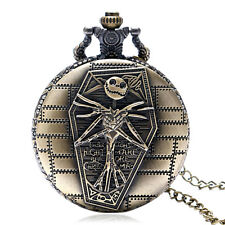 Retro The Nightmare Before Christmas Pocket Watch Necklace Women Men Xmas Gift