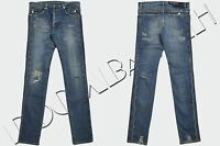 BALMAIN 1500$ Authentic New Distressed Slim Fit Skinny Blue Biker Jeans sz 31