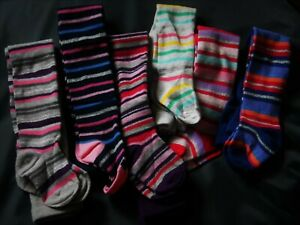 BABY , TODDLER AND GIRL STRIPED  PATTERN TIGHTS IN VARIOUS SIZES & COLOURS