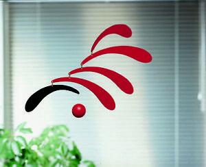 FLOWING RHYTHM RED & BLACK - FLENSTED MOBILE KINETIC ART DANISH MODERN DENMARK