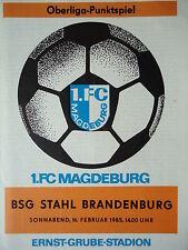 Programm 1984/85 1. FC Magdeburg - Stahl Brandenburg