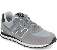NEW BALANCE Kids '574 Core Plus' Gray Suede Mesh Sneakers Sz 11.5 M NEW! 229683