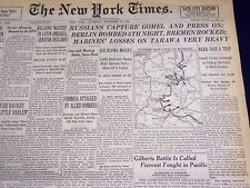 1943 NOV 27 NEW YORK TIMES - BERLIN BOMBED 5TH NIGHT, BREMEN ROCKED - NT 1055