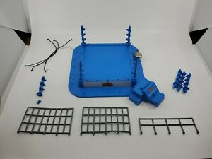 WWF Mini or Micro Ring Royal Rumble with stairs 1997 jakks ( Broken Pieces)