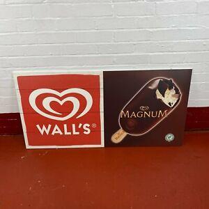Walls Ice Cream Walls Magnum Sign Van Shop Front Advertising Sign Restaurant
