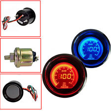 "New Car 2""52 mm Digital LED Oil Pressure Meter Red Blue Gauge"
