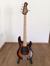 Harley Benton MB-5 SB Deluxe 5 Saiter Bass Music man Sound Wie Neu Viele Extras
