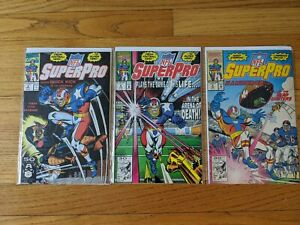 Marvel NFL SuperPro Football Comic Book Lot of 3 Issues #2, 4, and 5 (1991)