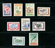 Guatemala  1953  #C188-96  National Fair birds flora cycling   9v. MVLH  E996