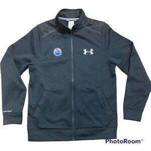 UNDER ARMOUR ColdGear Storm1 Loose Full Zip Fleece Lined Jacket Men Medium Black
