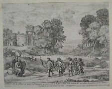 CLAUDE LORRAIN 1662 Original ETCHING by the French Old Master Time Apollo