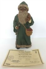 "All God'S Children 12.5"" Father Christmas Figurines W/ Apple Basket W/ Coa & Box"
