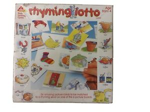 Rhyming Lotto Game For 2-6 Players