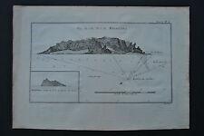 Originaldrucke (bis 1800) aus Südamerika mit Landkarten-Motiv