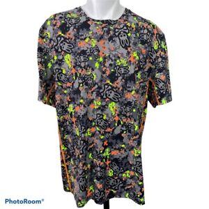 Psycho Bunny Mens Activewear T-Shirt Multicolor Camo Performance Stretch XL