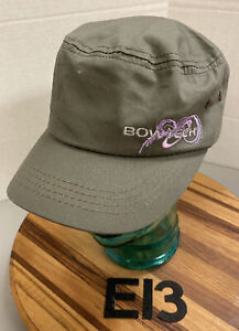 WOMENS BOWTECH BOW TECH OLIVE GREEN CADET/MILITARY STYLE HAT SNAPBACK VGC E13