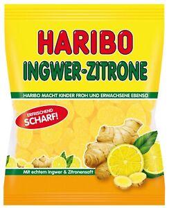 175g Haribo - kandiertes scharfes Fruchtgummi Ingwer-Zitrone - Frische Neuware -
