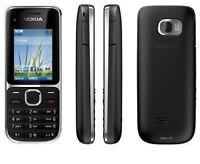 Nokia C2-01 Black 3G Bluetooth Camera Unlocked Mobile Phone With UK Plug In Box