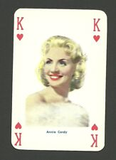Annie Cordy  RARE Vintage 1950s Film Star Actress Pin Up Playing Card