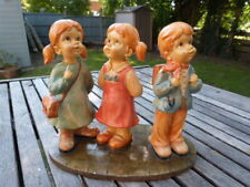 CHARMING VINTAGE RESIN FIGURINES OF YOUNG CHILDREN
