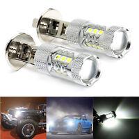 2x H1 80W 6500K CREE LED AUTO LAMPEN BIRNEN SCHEINWERFER GLÜHLAMPEN 12V 24V WEIß