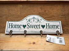 Shabby chic da appendere chiave Rack/Home Sweet Home Design/BIANCO/PAESE/Cucina/NUOVO