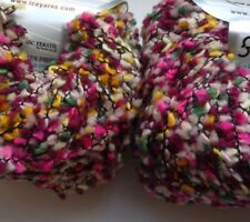 2 x 50g Textured Merino Yarn. Purple Multicolour. Knit/Crochet/Weave