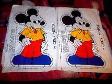 Walt Disney Mickey Mouse patttern for 2 throw pilows