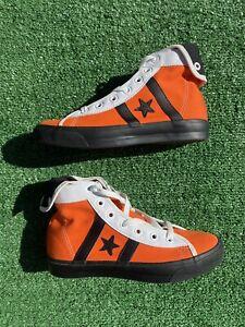 Converse Street Hockey Reissue Kicks Shoes Men's-7 Women's 8.5 Orange 1U238 RARE
