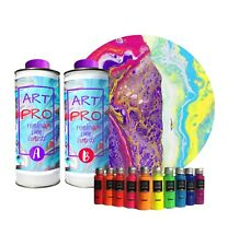 Art Pro RÉSINE Transparente pour Les Artistes 1.6KG + Set PIGMENTS Neon