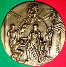 ISRAEL / KING OF ISRAEL / SALOMON BRONZE MEDAL BY VISEU / 158g - 3.1INCHES