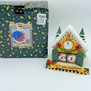 Mary Engelbreit Christmas Collection Countdown Calendar Blocks House Cottage SH