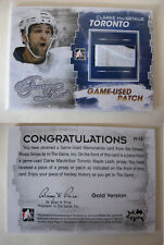 2012-13 ITG Forever Rivals M-13 Clarke MacArthur 1/1 patch GOLD 1 of 1 leafs