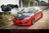 Manual Honda Jazz Fit GE807-13 Spoon Style Sport Black Cars Side Mirrors ABS