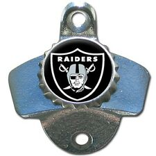 Oakland Raiders NFL Football Wall Mount Metal Pub Bar Bottle Opener - Brand New